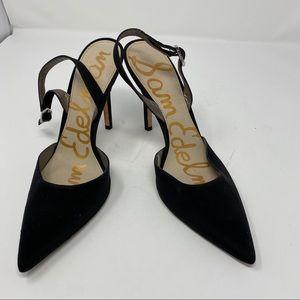 Sam Edelman Pointed Toe Black Heels